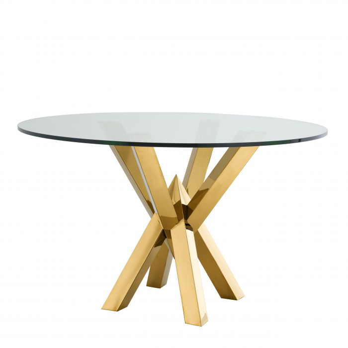 DINING TABLE TRIUMPH GOLD FINSH BY MELANIE INTERIOR DESIGN