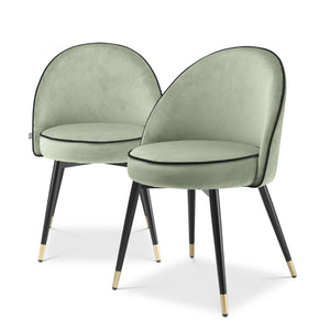 DINING CHAIR COOPER PISTACHE GREEN SET OF 2 BY MELANIE INTERIOR DESIGN