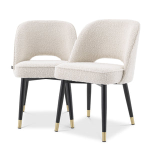 DINING CHAIR CLIFF CREAM BOUCLE SET OF 2 BY MELANIE INTERIOR DESIGN