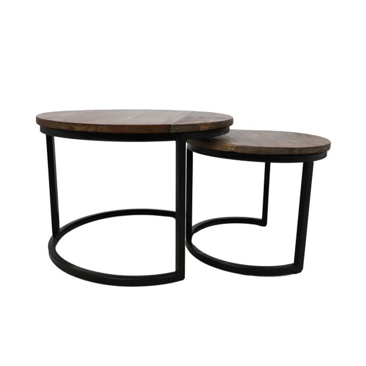 2 PIECE ROUND COFFEE TABLE SET