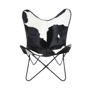 Butterfly Chair Cow Black von Melanie Interior Design