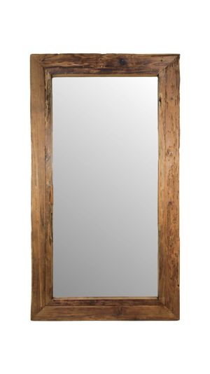 RUSTIC FRAMED WALL MIRROR - 180x90 CM