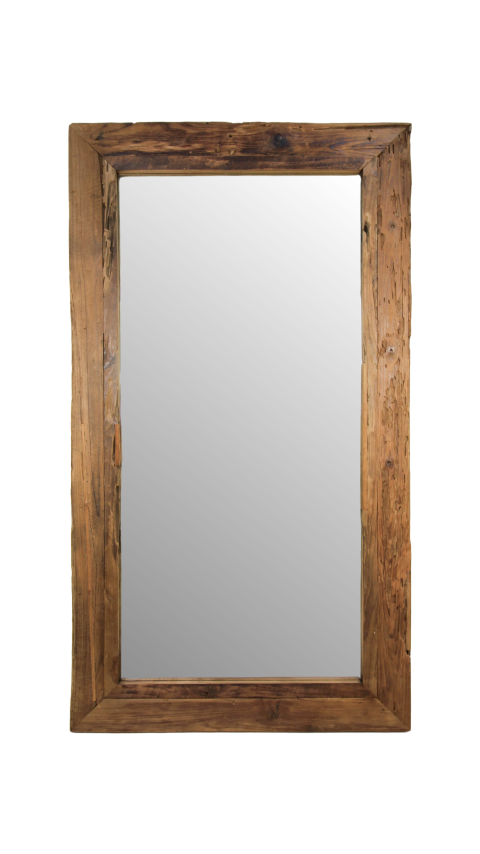 Rustic Framed Wall Mirror by Melanie Interior Design