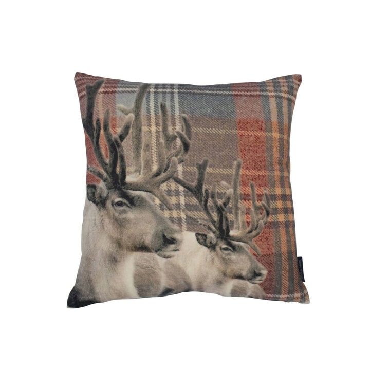 Pillow Deer Red Set Of 2 by Melanie Interior Design