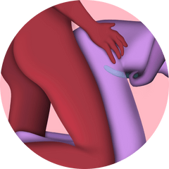 Doggy style sex position with sex toy