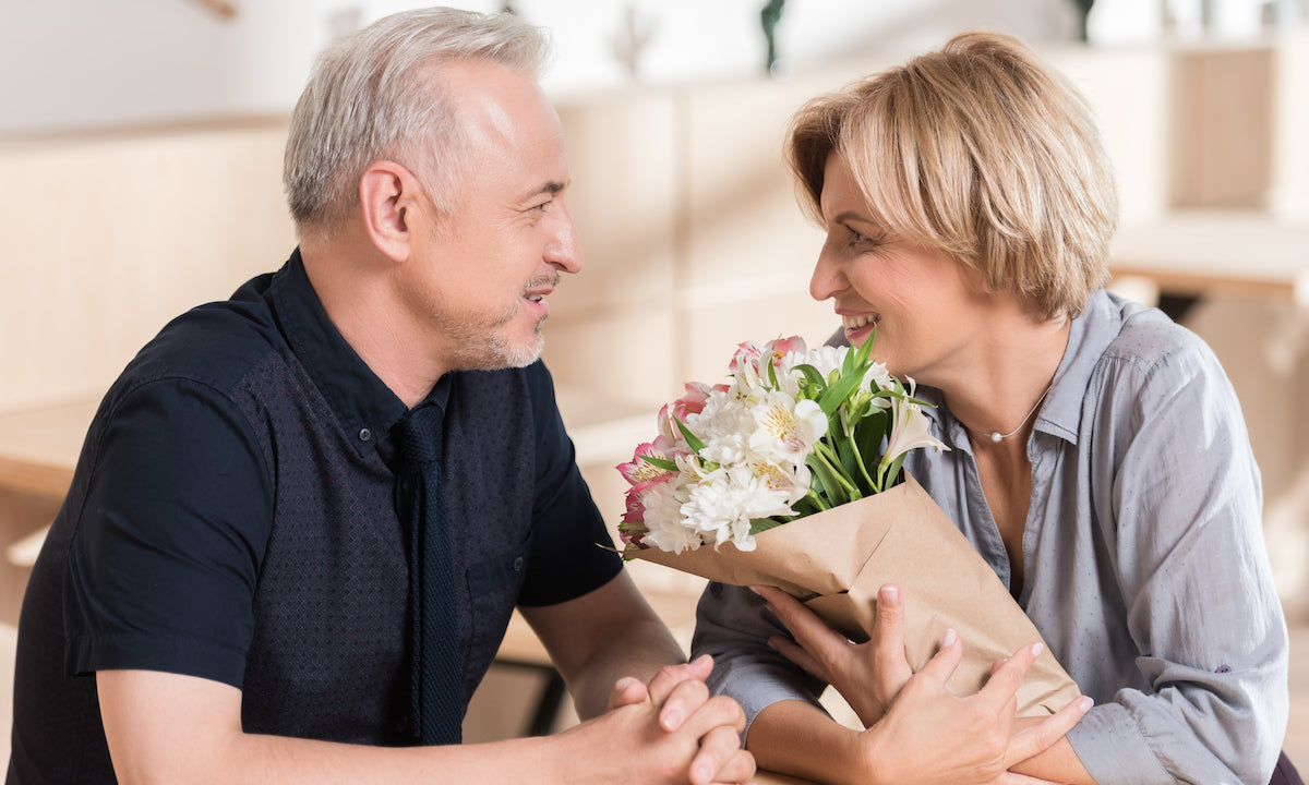 Support your partner through menopause with romantic gestures