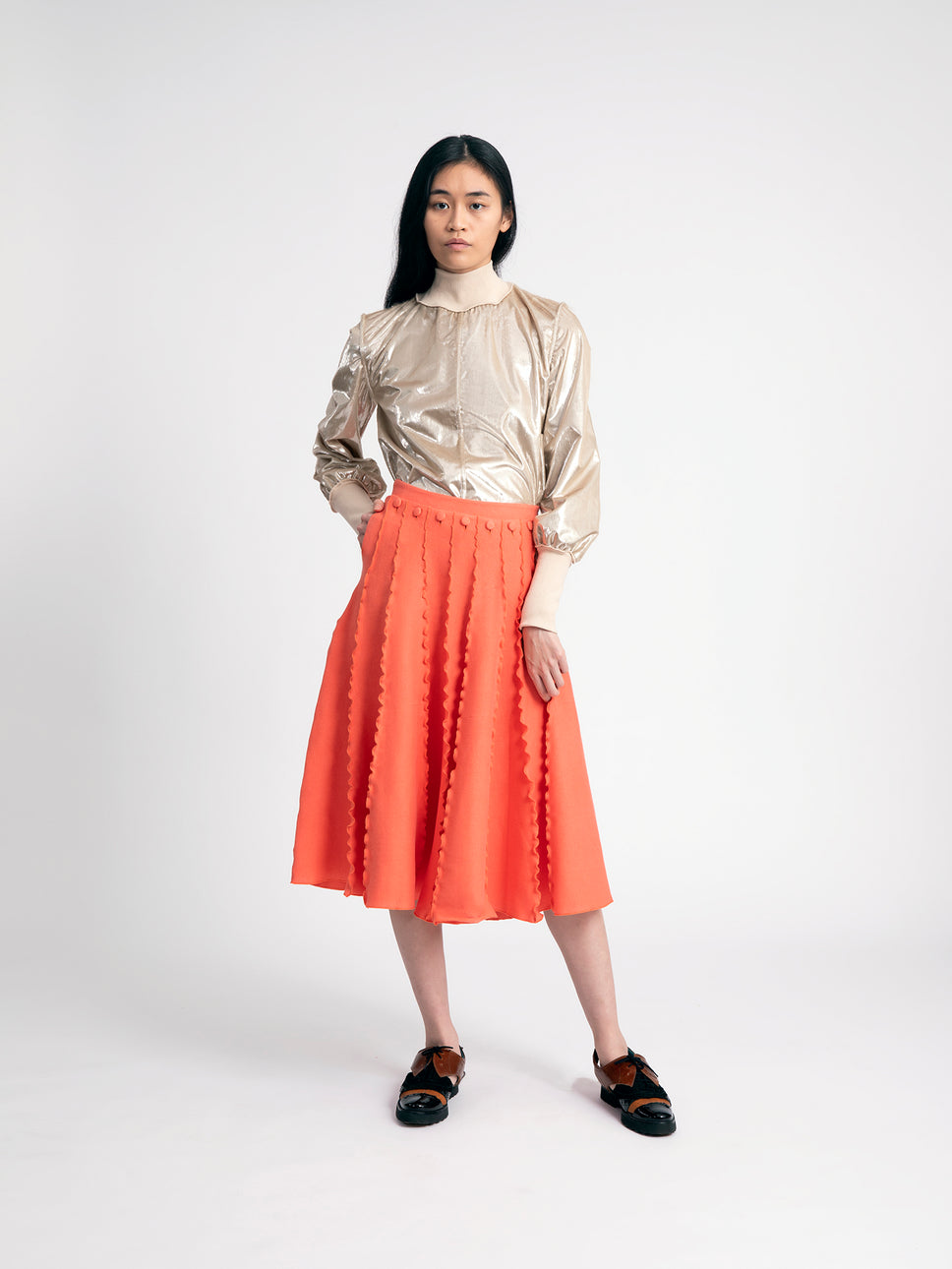 ruffle panel skirt