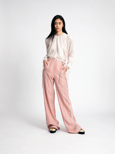 relaxe! check trousers