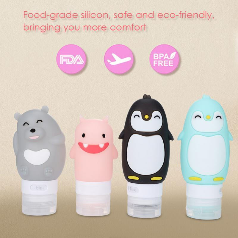 10-Pc Silicone Travel Bottle Set - Leakproof, Refillable Containers, Squeezable Tube & Face Cleanser Eko Traveler