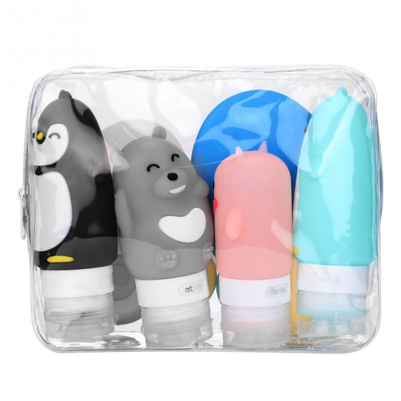 10-Pc Silicone Travel Bottle Set - Leakproof, Refillable Containers, Squeezable Tube & Face Cleanser