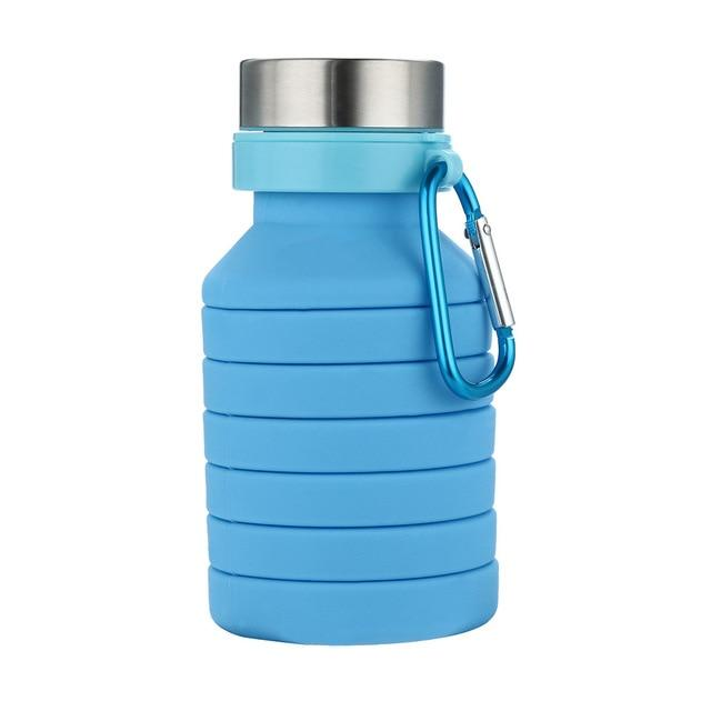 1PC Silicone Folding Portable Travel Outdoor Sports Retractable High Quality Cups Telescopic Home Camping Eko Traveler China Blue
