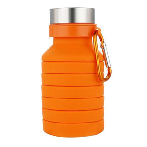 1PC Silicone Folding Portable Travel Outdoor Sports Retractable High Quality Cups Telescopic Home Camping Eko Traveler China Orange