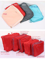5 Pcs Packing Cube Set, Travel Luggage Organizer Compression Foldable Water-Resistant Large Capacity Eko Traveler Pink
