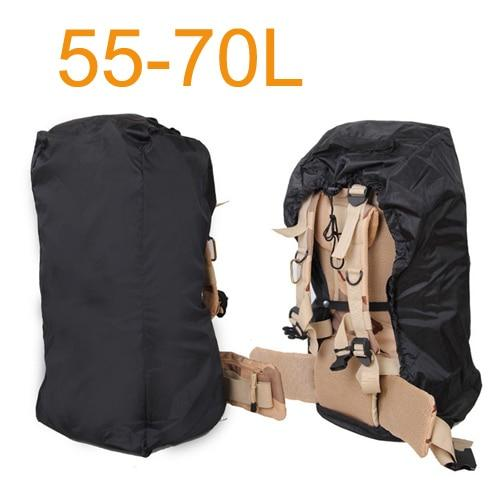 Aircraft Transport Full Protector Backpack Cover 35L 40L 45L 50L 55L 60L 65L 70L Waterproof Rain Cover Backpack Plane Dust Cover Eko Traveler Black 55 to 70L