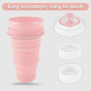 Water Bottle Washing Cup Drinking Cup Outdoor Travel Camping Rinse Folding Cup