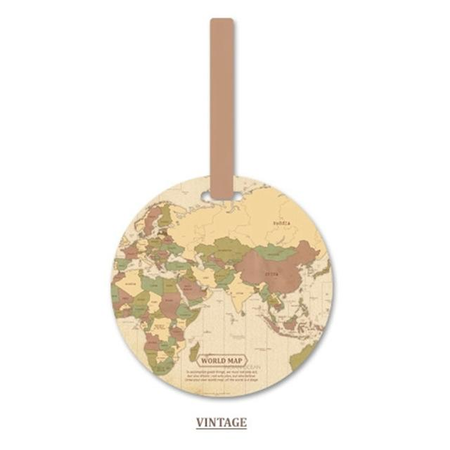 Fashion Map Luggage Tag Women Travel Accessories Silica Gel Suitcase ID Address Holder Baggage Boarding Tag Portable Label Bag Eko Traveler 4