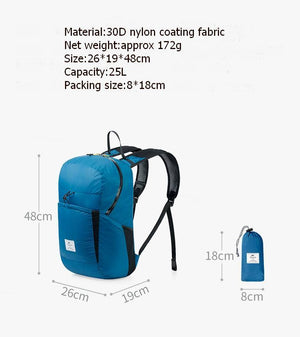 Foldable Travel Backpack - Packable Durable Multifunctional Water Resistant Ultralight Daypack Eko Traveler