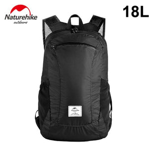Foldable Travel Backpack - Packable Durable Multifunctional Water Resistant Ultralight Daypack Eko Traveler 18L black