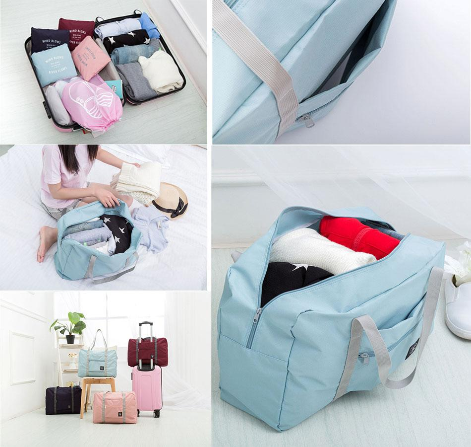 Foldable Travel Duffle Bag - Packable Tote Carry On Luggage Bag Lightweight Water & Tear Resistant Eko Traveler