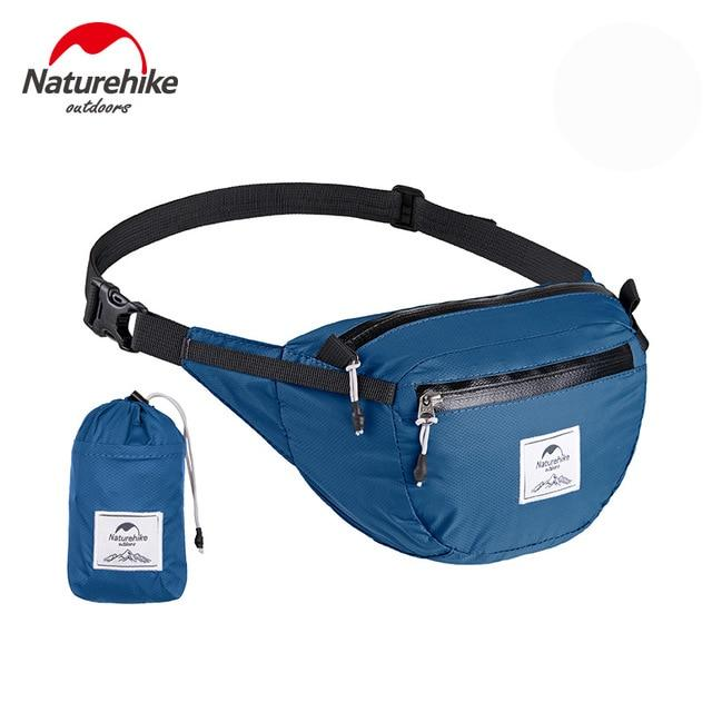 Foldable Travel Fanny Pack - Ultralight Packable Travel Waist Bag Multi-Functional Water Resistant Eko Traveler Blue
