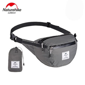 Foldable Travel Fanny Pack - Ultralight Packable Travel Waist Bag Multi-Functional Water Resistant Eko Traveler Gray