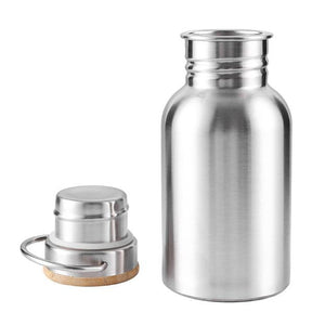 Insulated Stainless Steel Water Bottle w/ Bamboo Lid, Leakproof & Metal Bottle for Hot & Cold Drinks Eko Traveler