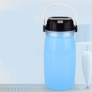 LED Solar Lantern Bottle, Silicone Travel Lamp USB Rechargeable Power Bank for Travel, Outdoor Eko Traveler Blue