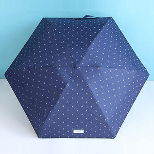 Mini Compact Travel Umbrella - Cute Print, Sun&Rain UV Protection Durable Portable Windproof Eko Traveler