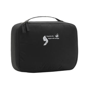 New Design Travel Cosmetic Bag Beautician Storage Bags Waterproof Female Storage Make up Cases Luggage Accessories Eko Traveler Black