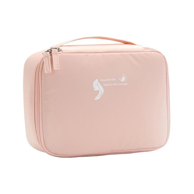 New Design Travel Cosmetic Bag Beautician Storage Bags Waterproof Female Storage Make up Cases Luggage Accessories Eko Traveler Pink