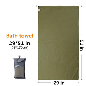 Outdoors Fast Drying Microfiber Travel Towel - Compact, Quick Dry, Super Absorbent, Antimicrobial Eko Traveler Army Green M-29x51in