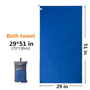 Outdoors Fast Drying Microfiber Travel Towel - Compact, Quick Dry, Super Absorbent, Antimicrobial Eko Traveler Blue M-29x51in
