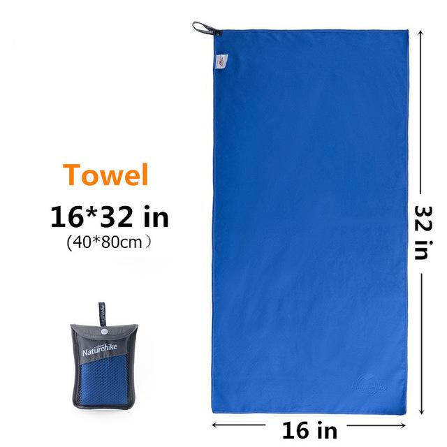 Outdoors Fast Drying Microfiber Travel Towel - Compact, Quick Dry, Super Absorbent, Antimicrobial Eko Traveler Blue S-16x32in