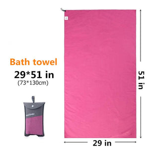 Outdoors Fast Drying Microfiber Travel Towel - Compact, Quick Dry, Super Absorbent, Antimicrobial Eko Traveler Rose Red M-29x51in
