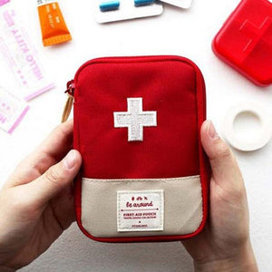 Portable Storage Bag First Aid Emergency Medicine Bag Outdoor Pill Survival Organizer Emergency Kits Package Travel Accessories Eko Traveler red