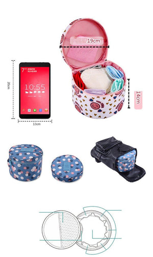 Travel Organizer Storage Bag - Multi-Functional Waterproof Underwear, Cosmetic, Makeup & Toiletries Eko Traveler