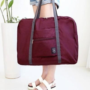 Waterproof Folding Travel Bag Eko Traveler Wine Red