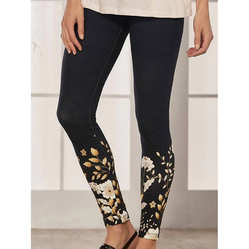 Women's Warm Printed Slim Pants