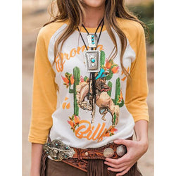 Autumn Printed Crew Neck T-Shirt