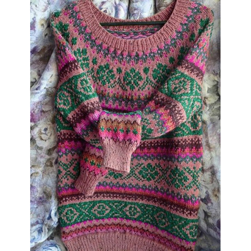 Plus Size Knitted Boho Tribal Shirts & Tops