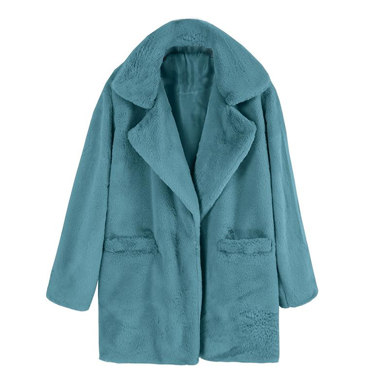 Warm Turndown Collar Solid Coats