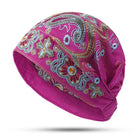 Embroidery Ethnic Hat Vintage Elastic Breathable Summer Turban Caps
