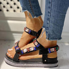 Shiny Slingback Muffin Women Sandals