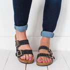 Casual Buckle Beach Slippers