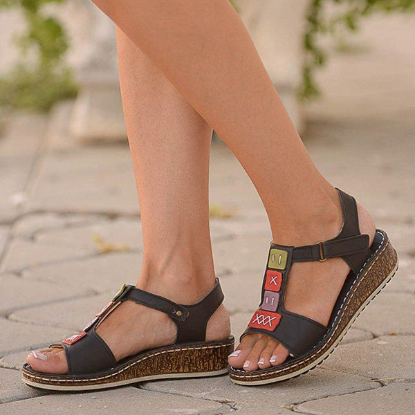 Women's Casual Daily Comfort Open Toe Wedge Sandals