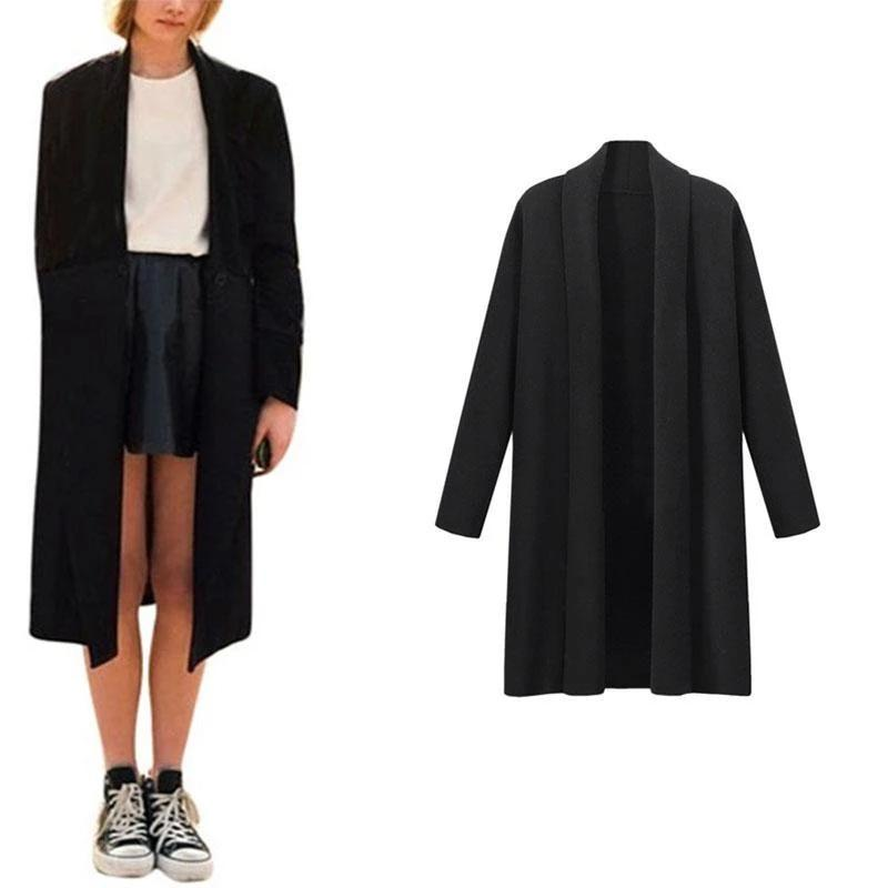 Front Trench Coat Long Cloak Cardign