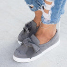 Women's Casual Solid Color Bow Sneakers