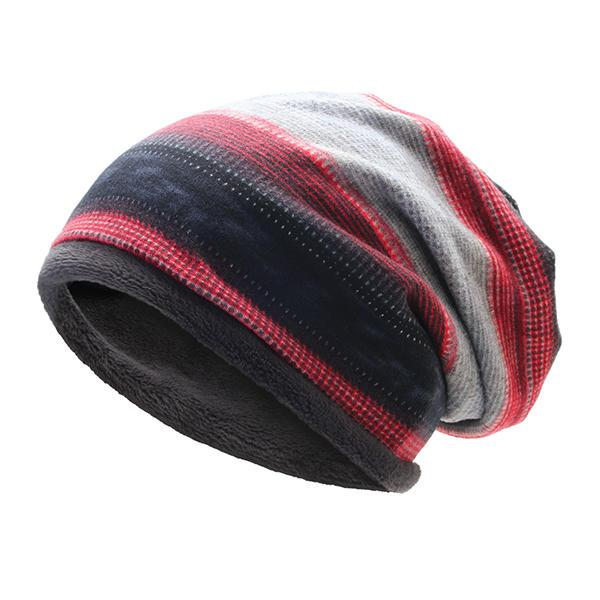 Mens Womens Outdoor Winter Stripes Beanie Hat