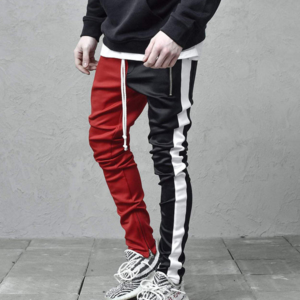 Fashion Stitching Color Casual Pants