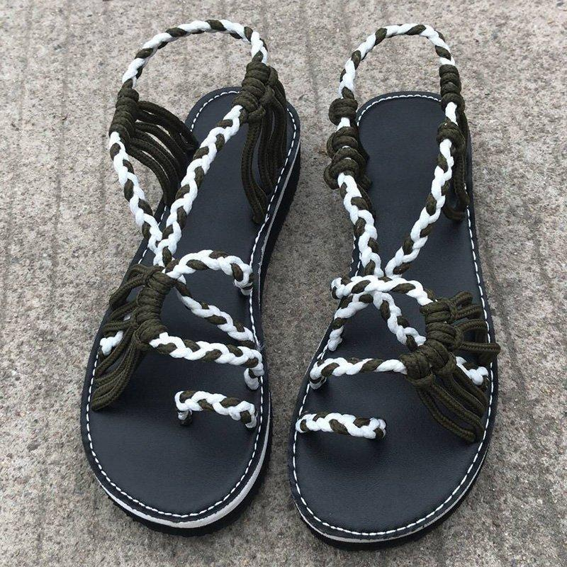 Cross Belt Beach Sandals